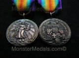 MINIATURE WW1 INTER ALLIED VICTORY MEDAL BRAZIL